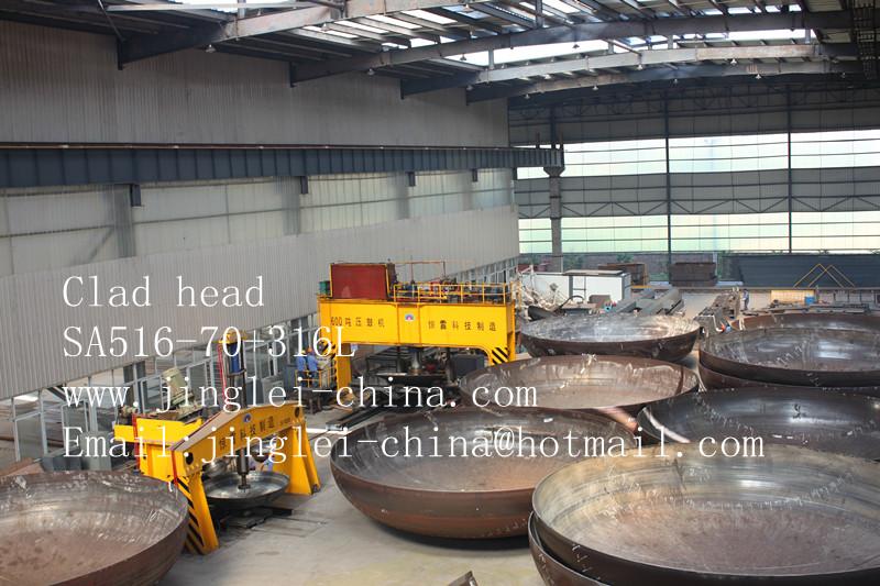Clad head SA516-70+316L